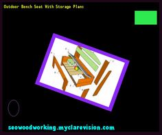 Outdoor Bench Seat With Storage Plans 185653 - Woodworking Plans and Projects!