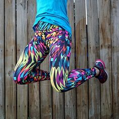 Jump for joy over our JoJo Legging Afterglow - Shop this and other great prints for your next sweat session! Dona Jo   donajofitwear.com