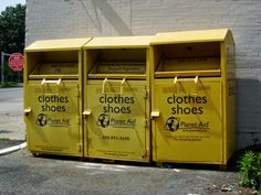 THE BARE NECESSITIES - clothes & shoes collecting boxes - how to get rid of stuff