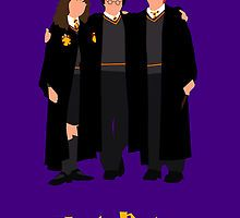 Harry Potter Trio Art Print by TheWonderlander Harry Potter Gifts, Harry Potter Books, Metallic Prints, Framed Canvas Prints, Hogwarts, Minimal, Posters, Wizards, Witches