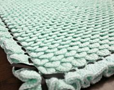 Babies will love cuddling in their crib with this sweet Crocodile Crochet Baby Blanket. Bernat Softee Baby yarn is used to work up this free crochet afghan pattern. It& a square shaped blanket that measures approximately 35 inches across. Crochet Afghans, Baby Afghan Crochet Patterns, Baby Blanket Crochet, Baby Afghans, Crochet Blankets, Knitting Patterns, Crocheting Patterns, Crochet Dishcloths, Crochet Crocodile Stitch