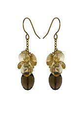 ZGBE-SQC:  Gold Chain Bunch Earrings