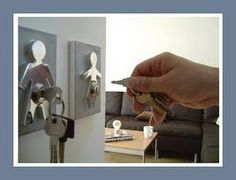 This is a really cute modern wedding gift idea. Couple Human Key Holders... #weddinggift #giftideas