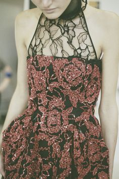 Ruby red and Chantilly lace. #Spring16