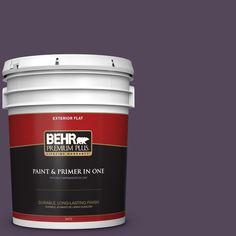 BEHR Premium Plus 5 gal. #PPU17-01 Mata Hari Flat Exterior Paint