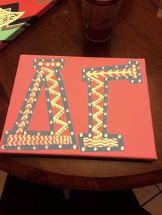Delta Gamma canvas crafts