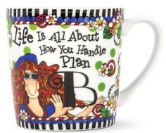 From the incredibly wonderful wacky world of Suzy Toronto comes this oversized porcelain gift mug to add a smile to your day! Each mug holds 14 ounces of your favorite beverage, is dishwasher and micr