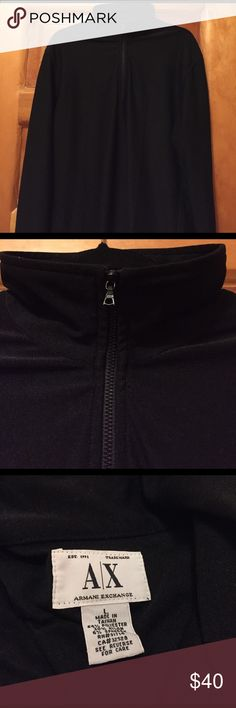 Armani Exchange Black Long Sleeve Shirt A Like new Armani Exchange Black long sleeve shirt with a partial zipper in the front. A/X Armani Exchange Shirts