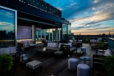 3. The Rooftop Lounge at Thompson Toronto Hotel: The Rooftop Lounge at Thompson Toronto Hotel is undergoing a refresh in time for summer. The infinity pool deck will be resurfaced and the pool area will be stocked with new loungers and plants. The reception capacity for the entire indoor/outdoor space is 238. If used separately, the indoor space can hold receptions for 112 guests; the outdoor space holds 126 standing. Menu items include craft cocktails, jerk chicken bites, and purple kale…