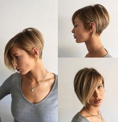 Short Tapered Bob With Long Bangs #Long&ShortHairStyles