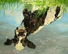 "Clara Bastian; Oil, Painting ""Reflection"""
