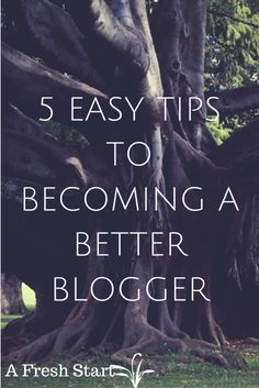Blogging tips: 5 Easy tips to becoming a better blogger.