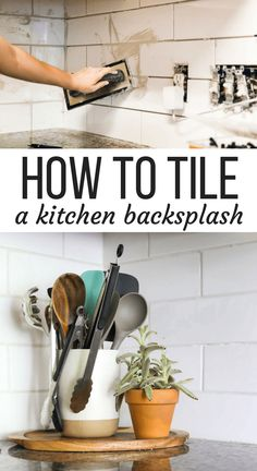 Do you have a kitchen in need of a new backsplash? This post will walk you step-by-step through how to install a subway tile backsplash - even if you've never tiled before! These tiling tips for beginners will give you the confidence you need to tackle tiling your own kitchen backsplash. #tiling #diy #homeimprovement #kitchen #tile #diyproject #kitchenrenovation
