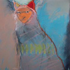 "Ruby, Rebecca Haines, 24x24"" oil/panel, $2400. #contemporaryart #santafeart"