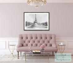 Mauve pink Parisian Apartment inspiration.