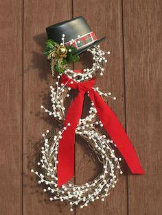 Snowman Christmas Wreath.