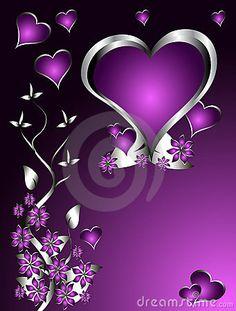 valentines in purple