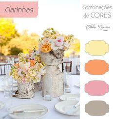 Combinações de Cores Clarinhas - Decoração de Casamento - Amarelo, Laranja e Rosa