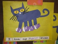 Pete the Cat is my preschoolers' favorite book!  Here are some fun ideas to do with it.