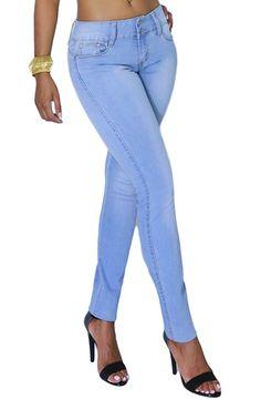 Fandsway Womens Comfort Active Indigo Denim Stretchy Skinny Jeans (SIZE : 1, INDIGO-1680-1458L)