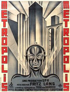 So what exactly is Art Deco? A lot of people confuse Art Deco with Art Nouveau. Both styles were around at roughly the same time, although Art Nouveau came slig. Rock Posters, Art Deco Posters, Cinema Posters, Poster Prints, Art Print, Movie Prints, Metropolis Film, Metropolis Poster, Retro Poster