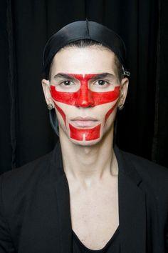 Givenchy Men's SS14 Backstage / Look by Pat McGrath #spadelic #makeup #patmcgrath