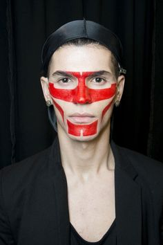 Givenchy Men's SS14 Backstage / Look by Pat McGrath #spadelic #makeup #patmcgrath
