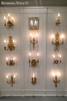 BethesdaStyle Antique Brass Sconces At Washington DC Design Center Interior