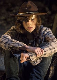 "Hi I'm Carl Grimes. I'm seventeen years old, I have a little sister named Judith, and a father named Rick. I lost my eye a while back to an asshole named Ron and that's why I'm here. Apparently I have ptsd due to ""loss of my eye"" and ""the apocalypse"". Whatever..."
