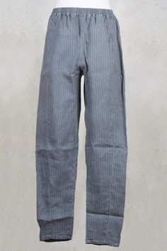Loose Fitted Trousers in Baby Blue Stripe - Privatsachen