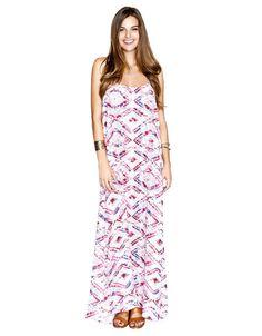 Show Me Your Mumu T-Rex Maxi Dress in Abrias Pink Diamond