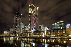 Melbourne Southbank by Night.Used to love to go there for dinner!