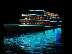 It's a party boat! Use weather resistant or waterproof LED strip lights for fun times on the water.