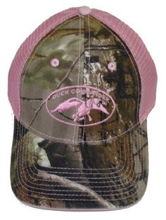 Duck Commander ~ Laides Pink and Camo 2 Tone Mesh ~ Duck Hunting Hat Cap  Dynasty 42993c3d5712