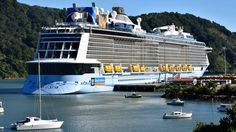 Pictures: Mega cruise ship Ovation of the Seas docks in Picton   1 NEWS NOW   TVNZ