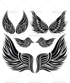 how to draw feathered wings