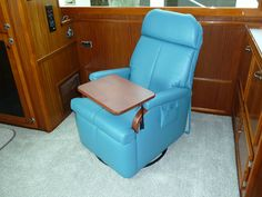 Lambright Lazy Relaxor Lite Wall Hugger Recliner. Yacht Install. & Lambright Superior 58