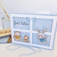 Snuggle Bunnies - MFT. Card by Nicky Noo Cards #nickynoocards and https://www.facebook.com/nickynoocards/