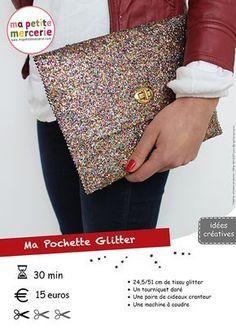 DIY : Une pochette à paillettes - Ma petite Mercerie, le blog