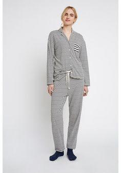 Peopletree Stripe Pyjama Trousers Bas Femme
