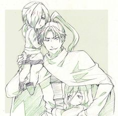The Green Dragons. ❤ Shuten, Garou & Jae-ha. || Akatsuki no Yona