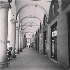 Just arrived & walking through my first portico in #Bologna! Already impressed! - Instagram by @travolution