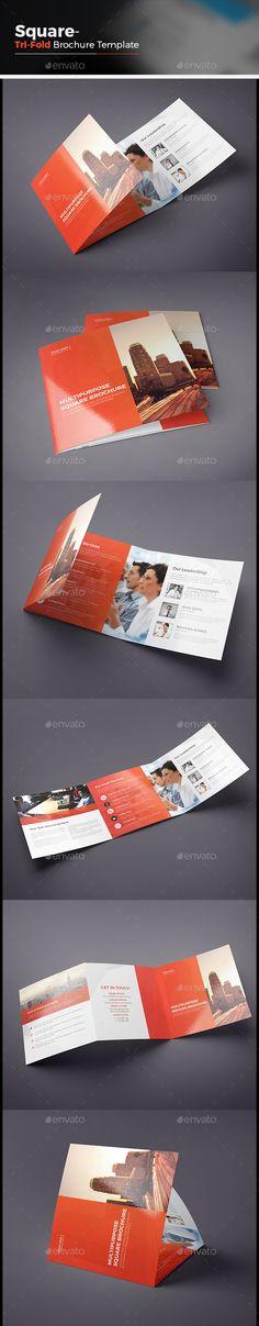 Square Tri-fold Brochure Template Vector EPS, AI #design Download: http://graphicriver.net/item/square-trifold-brochure/14067516?ref=ksioks