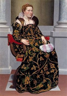 Venetian Province of Bergamo, Republic of Venice   Giovanni Batista Moroni, 1552-53: Isotta Brembati  Bergamo, Moroni Collection