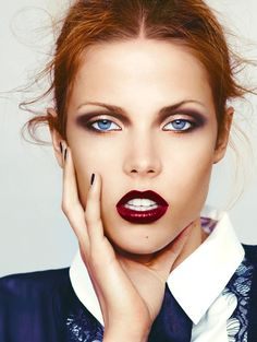Makeup Artists Meet » This vampy look works well with her fiery red...