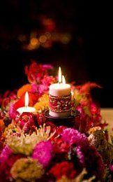 Un Mariage Bollywood Bollywood wedding Bollywood Theme, Bollywood Wedding, Indian Bollywood, Candle Wedding Centerpieces, Wedding Decorations, Centerpiece Ideas, Gloriosa Lily, Candle Lanterns, Candles