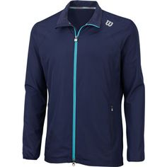 The Wilson Men's Rush Tennis Windbreaker is a lightweight and high quality athletic jacket. It has a relaxed fit and black inset for extra ventilation.. It is a full zippered jacket allowing for easy donning and removal. The two front hand pockets fit into the design well without distracting from the aesthetic purity. The mix of fabric materials ensures a lightweight feel and athletic look.