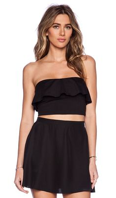 Shop for Susana Monaco Ruffle Tube Crop Top in Black at REVOLVE. Free 2-3 day shipping and returns, 30 day price match guarantee.