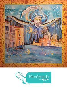 Notte a Venezia. Foulard pura seta crepe de chine dipinto a mano con disegno d'autore https://www.amazon.it/dp/B06XJMC3JR/ref=hnd_sw_r_pi_dp_OX9WybGF6FM4B #handmadeatamazon