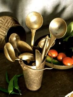 Traditional Indian Brass Serving Utensils